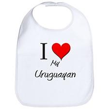 I Love My Uruguayan Bib