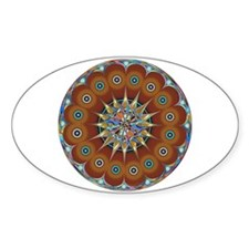 Trippy Flower Oval Decal