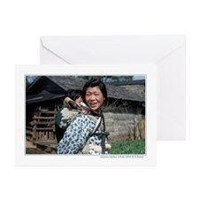 Japanese mother & child Greeting Cards (Pk 10)
