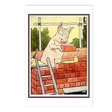 """Pig Handyman/Bricklayer"" Postcards (Package of 8)"