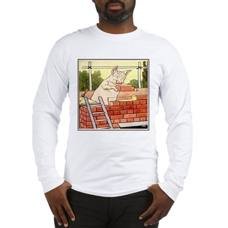 """Pig Handyman/Bricklayer"" Long Sleeve T-Shirt"
