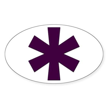 Asterisk Oval Sticker