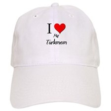 I Love My Turkmem Baseball Cap
