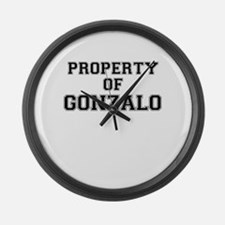 Property of GONZALO Large Wall Clock