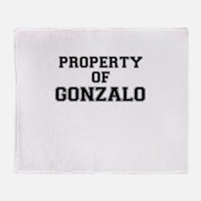 Property of GONZALO Throw Blanket