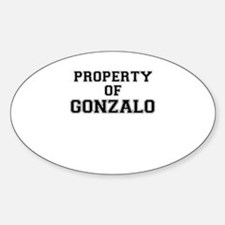 Property of GONZALO Decal