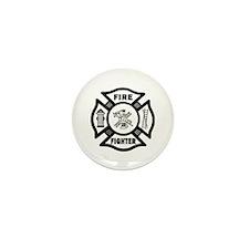 Fire Fighter Mini Button (10 pack)