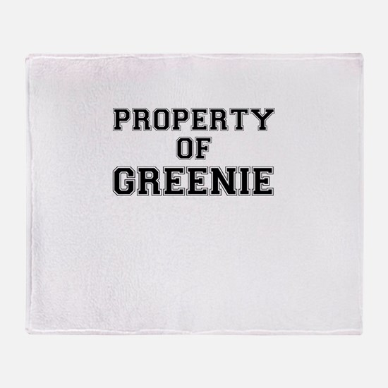 Property of GREENIE Throw Blanket