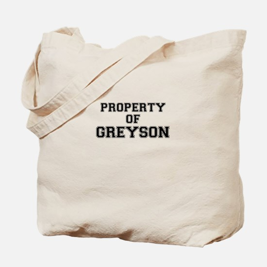 Property of GREYSON Tote Bag