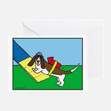 Basset Agility Greeting Card