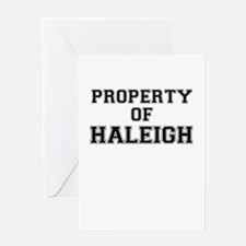 Property of HALEIGH Greeting Cards