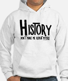 Repeat History Rough Text Hoodie