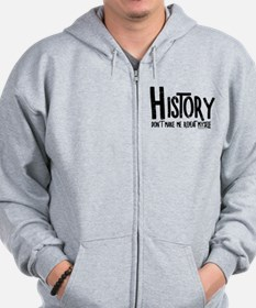 Repeat History Rough Text Zip Hoodie