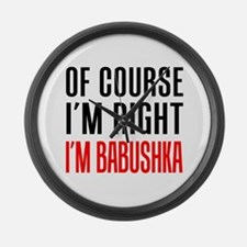 I'm Right Babushka Drinkware Large Wall Clock