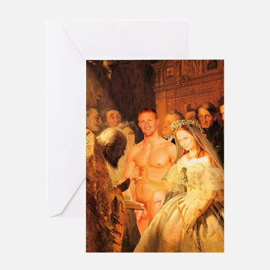 Cool Naked male Greeting Card