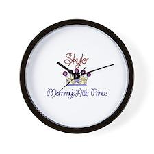 Skyler - Mommy's Little Princ Wall Clock