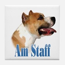 Staffy Name Tile Coaster