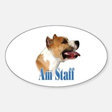 Staffy Name Oval Decal