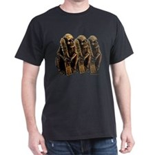 Skeleton Holding Sutra Plaque T-Shirt