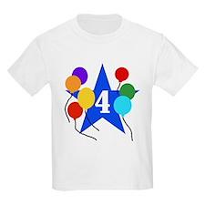 Star 4th Birthday Kids T-Shirt