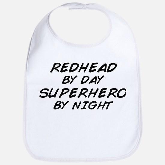 Redhead Superhero Bib