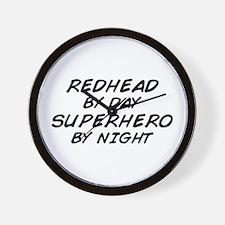 Redhead Superhero Wall Clock