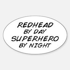 Redhead Superhero Oval Decal