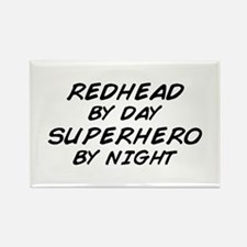 Redhead Superhero Rectangle Magnet