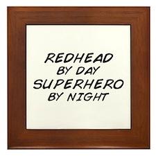Redhead Superhero Framed Tile
