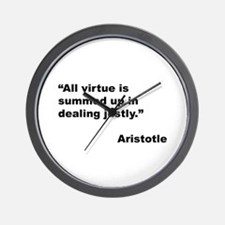 Aristotle Quote on Virtue Wall Clock