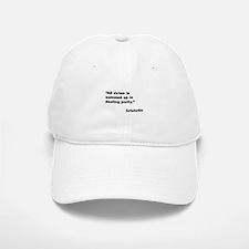 Aristotle Quote on Virtue Baseball Baseball Cap