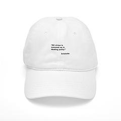 Aristotle Quote on Virtue Cap
