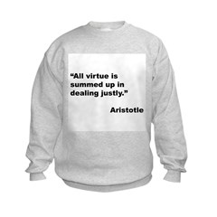 Aristotle Quote on Virtue (Front) Sweatshirt