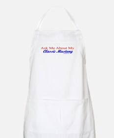 """""""Ask Me About My Mustang"""" BBQ Apron"""