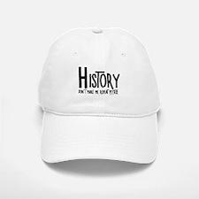 Repeat History Rough Text Baseball Baseball Baseball Cap