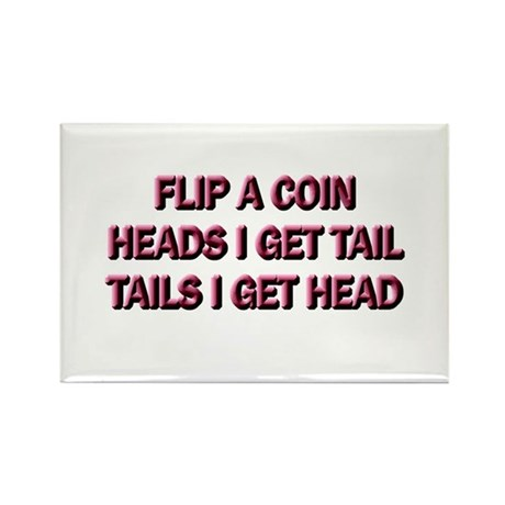Heads or Tails Rectangle Magnet