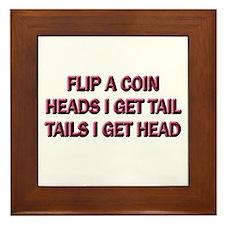 Heads or Tails Framed Tile