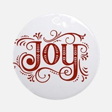 jOY [ornate] Round Ornament
