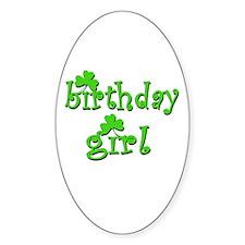 Irish Birthday Girl Decal