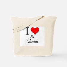 I Love My Slovak Tote Bag
