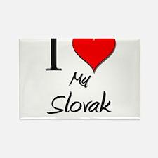 I Love My Slovak Rectangle Magnet