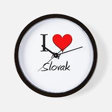 I Love My Slovak Wall Clock