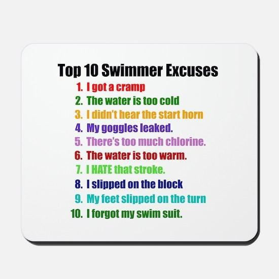 Swim Excuses Mousepad