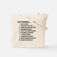Swim Excuses Tote Bag