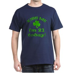 Kiss Me I'm 21 w/Shamrock T-Shirt