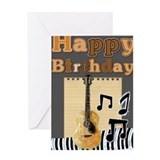 Guitar birthday Greeting Cards