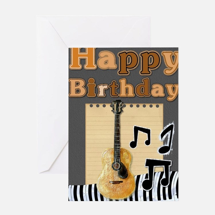 Cute Instrument guitar piano drums drummer Greeting Card