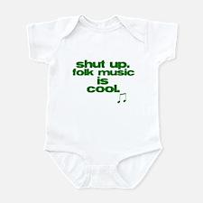 Folk Music is Cool Infant Bodysuit