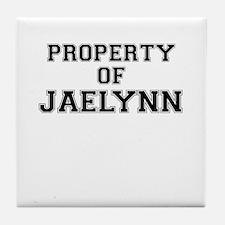 Property of JAELYNN Tile Coaster