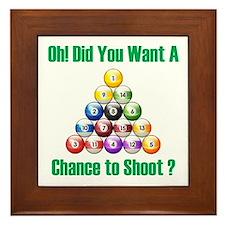 Chance To Shoot Framed Tile